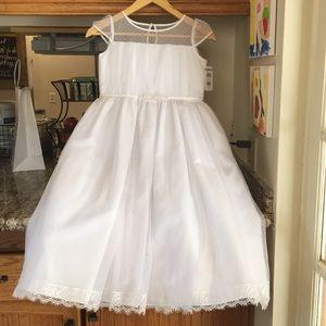 Never-worn communion/flower girl dress